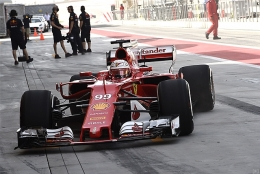 フェラーリ、テスト2日目のトラブルはピットの停電
