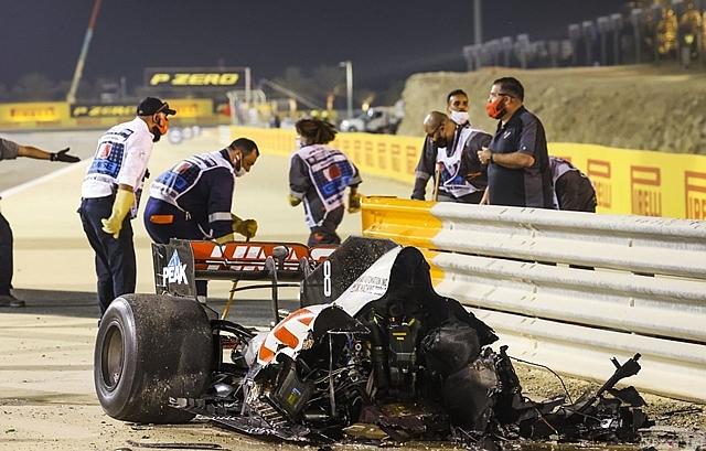 FIA、グロージャンのクラッシュは67Gもの衝撃